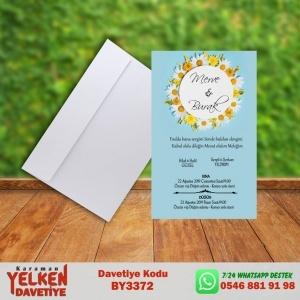 1000 Adet Beyaz Zarflı Davetiye Modeli