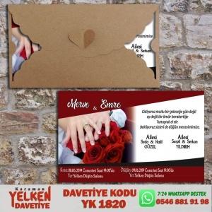 1000 Adet Kalpli Yatay Kraft Zarf Modeller